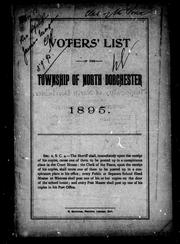 Voters' list of the township of North Dorchester, 1895 by North Dorchester (Ont.)