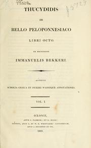 Cover of: De Bello Peloponnesiaco libri octo by Thucydides