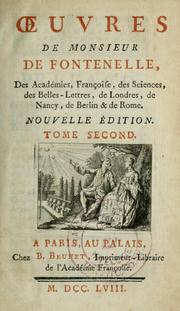 Cover of: Oeuvres by Fontenelle M. de