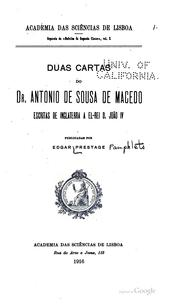 Pamphlets on Antonio de Souza de Macedo by Prestage, Edgar