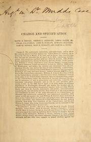 Charge and specification against David E. Herold, George A. Atzerodt, Lewis Payne, Michael O'Laughlin, John H. Surratt, Edward Spangler, Samuel Arnold, Mary E. Surratt, and Samuel A. Mudd by Holt, Joseph