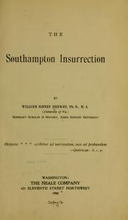 The Southampton insurrection by William Sidney Drewry