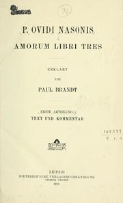 Cover of: Amorum libri tres by Ovid