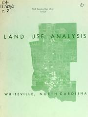 Land use analysis, Whiteville, North Carolina by North Carolina. Division of Community Planning