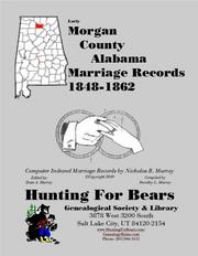 Early Morgan County Alabama Marriage Records 1848-1862 by Nicholas Russell Murray