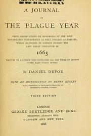 Cover of: A journal of the plague year by Daniel Defoe