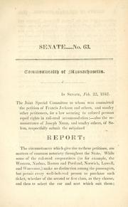 In Senate, Feb. 22 1842 by Massachusetts. General Court.