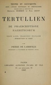 De praescriptione haereticorum by Tertullian
