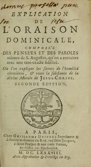 Cover of: Explication de l'oraison dominicale by Augustine of Hippo