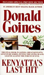 Kenyatta&#39;s Last Hit by Donald Goines