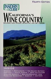 The Insiders' guide to California's wine country by Jean Saylor Doppenberg