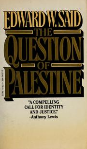 Cover of: The question of Palestine by Edward W. Said