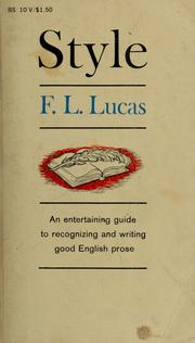 Cover of: Style by F. L. Lucas