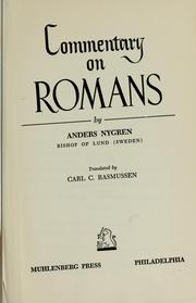 Commentary on Romans by Anders Nygren