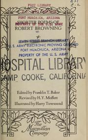 Cover of: The shorter poems of Robert Browning by Robert Browning