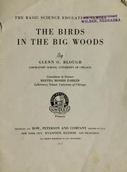Cover of: The birds in the big woods by Glenn Orlando Blough