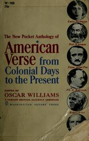 Cover of: The new pocket anthology of American verse by Oscar Williams