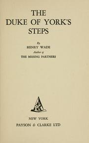 Cover of: The Duke of York's Steps by Henry William Rawson Wade