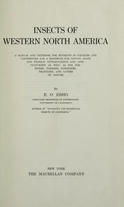 Cover of: Insects of western North America by E. O. Essig