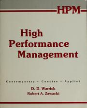 Supervisory management by D. D. Warrick