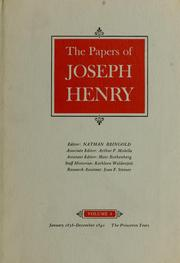 The papers of Joseph Henry by Henry, Joseph