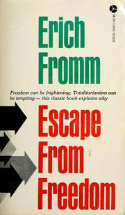 Cover of: Escape from freedom by Erich Fromm