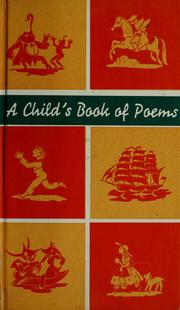 Cover of: A Child's book of poems by illustrated by Vera Bock.