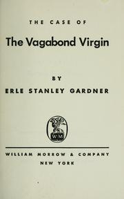 Cover of: The case of the vagabond virgin by Erle Stanley Gardner