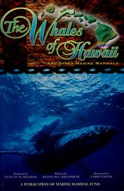 Cover of: The Whales of Hawaii by Kenneth C. Balcomb III