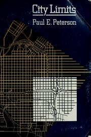 City limits by Peterson, Paul E.