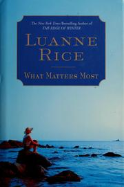 Cover of: What matters most by Luanne Rice