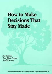 How to make decisions that stay made PDF