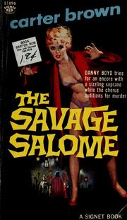 Cover of: The savage salome by Carter Brown
