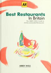 Cover of: Best restaurants in Britain by
