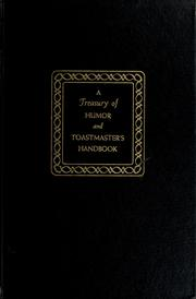 Cover of: A treasury of humor, and Toastmaster's handbook by Marjorie Barrows