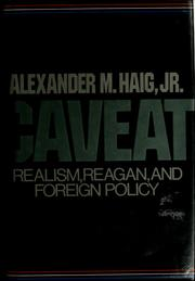 Cover of: Caveat by Alexander Meigs Haig