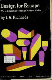 Cover of: Design for escape | I. A. Richards
