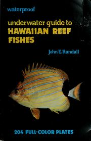 Underwater guide to Hawaiian reef fishes by John E. Randall