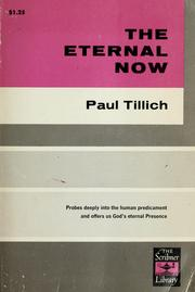 The eternal now by Paul Tillich