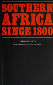 Southern Africa since 1800 by Donald Denoon