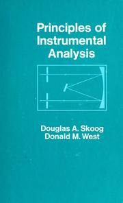Cover of: Principles of instrumental analysis by Douglas A. Skoog