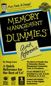 Cover of: Memory Management for Dummies Quick Reference by Doug Lowe