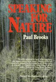 Speaking for nature PDF