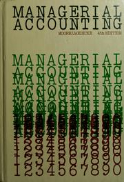 Managerial accounting by Carl L. Moore