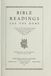 Cover of: Bible readings for the home by contributed by a large number of Bible scholars