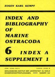 Index and bibliography of marine ostracoda PDF