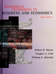Statistical techniques in business and economics by Robert D. Mason