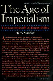 The age of imperialism by Harry Magdoff