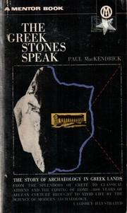 The Greek stones speak PDF
