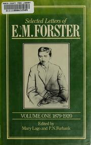Cover of: Selected letters of E.M. Forster by E. M. Forster